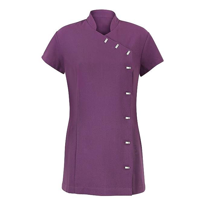 Alexandra - Túnica uniforme para salón de belleza / spa de cuidado fácil para mujer (