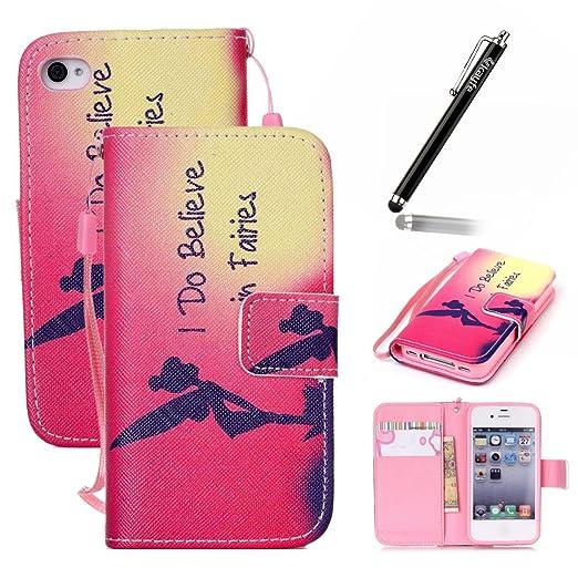 7 opinioni per Ukayfe Custodia portafoglio / wallet / libro in pelle per Apple iphone 4/ iphone