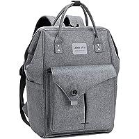 Lekesky Laptop Backpack, Travel Backpack for Women 15.6 Inch Work Laptop Bag Men Computer Backpack Water Repellent, Grey
