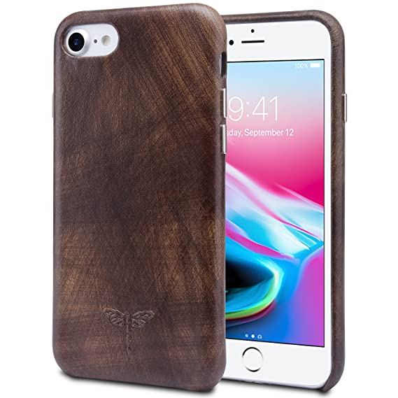 Amazon Com Iphone 7 Case Leather Iphone 8 Case Supports Wireless
