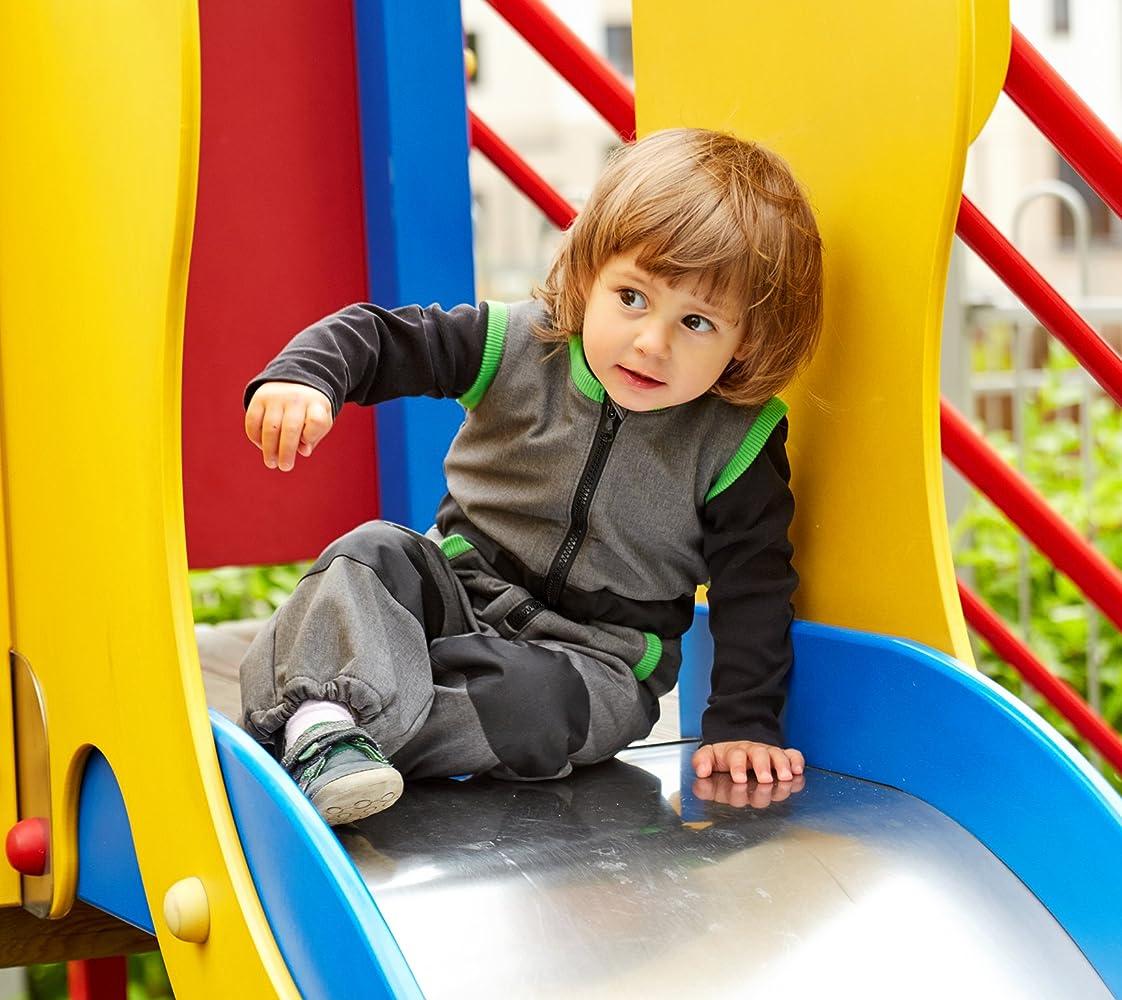 Farbauswahl be baby Wassers/äule: 10.000 mm Softshell-Matschhose Play mit Softshell Weste f/ür Kleinkinder Gr 80-122