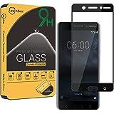 Jasinber Protector de pantalla de vidrio templado de cobertura de pantalla completa para Nokia 6 (negro)