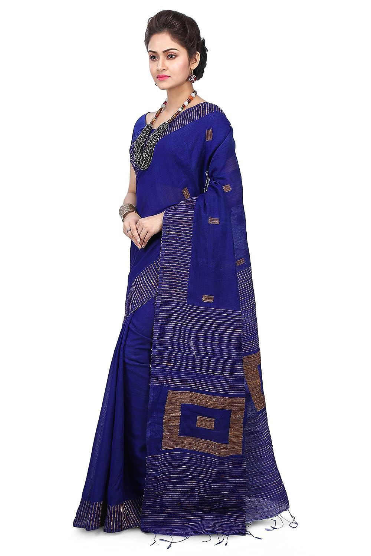 d2f9152c8daea5 WoodenTant Women s Silk Cotton Saree with Blouse Piece (WBG05