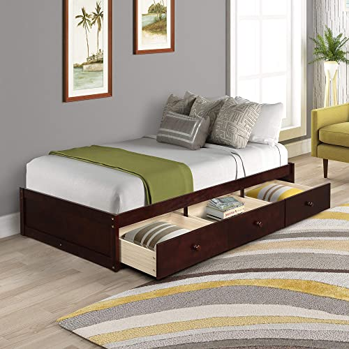 Wood Twin Bed Platform Bed