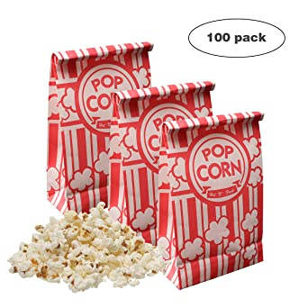 Amazon.com: Keriqi - Bolsas de palomitas (100 unidades ...