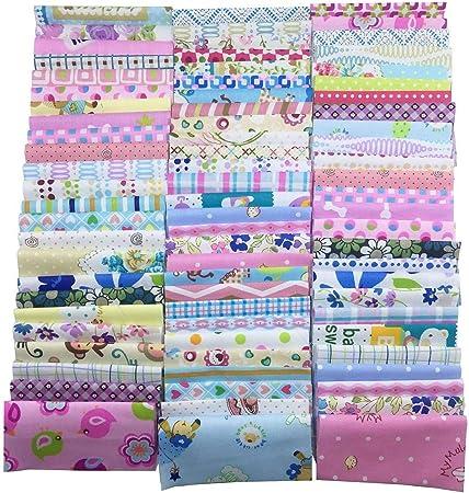 Algodón Tela Patchwork DIY Artesanía textil tejido cuadrado ...