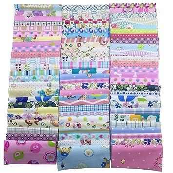 Algodón Tela Patchwork DIY Artesanía textil tejido cuadrado surtido con diferentes patrones para DIY Costura Quilting Patchwork manualidades gamuza de ...