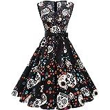 Gardenwed Chrismtas Vintage Dress for Women 1950s Cocktail Retro Rockabilly Holiday Swing Dress