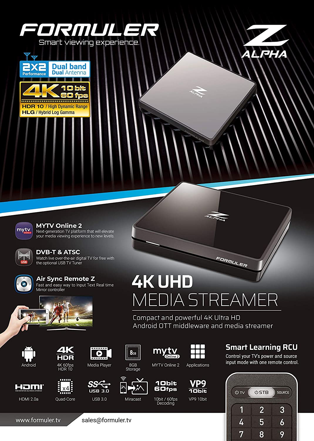Formuler Z Alpha 4K Ultra HD Android: Amazon.es: Electrónica