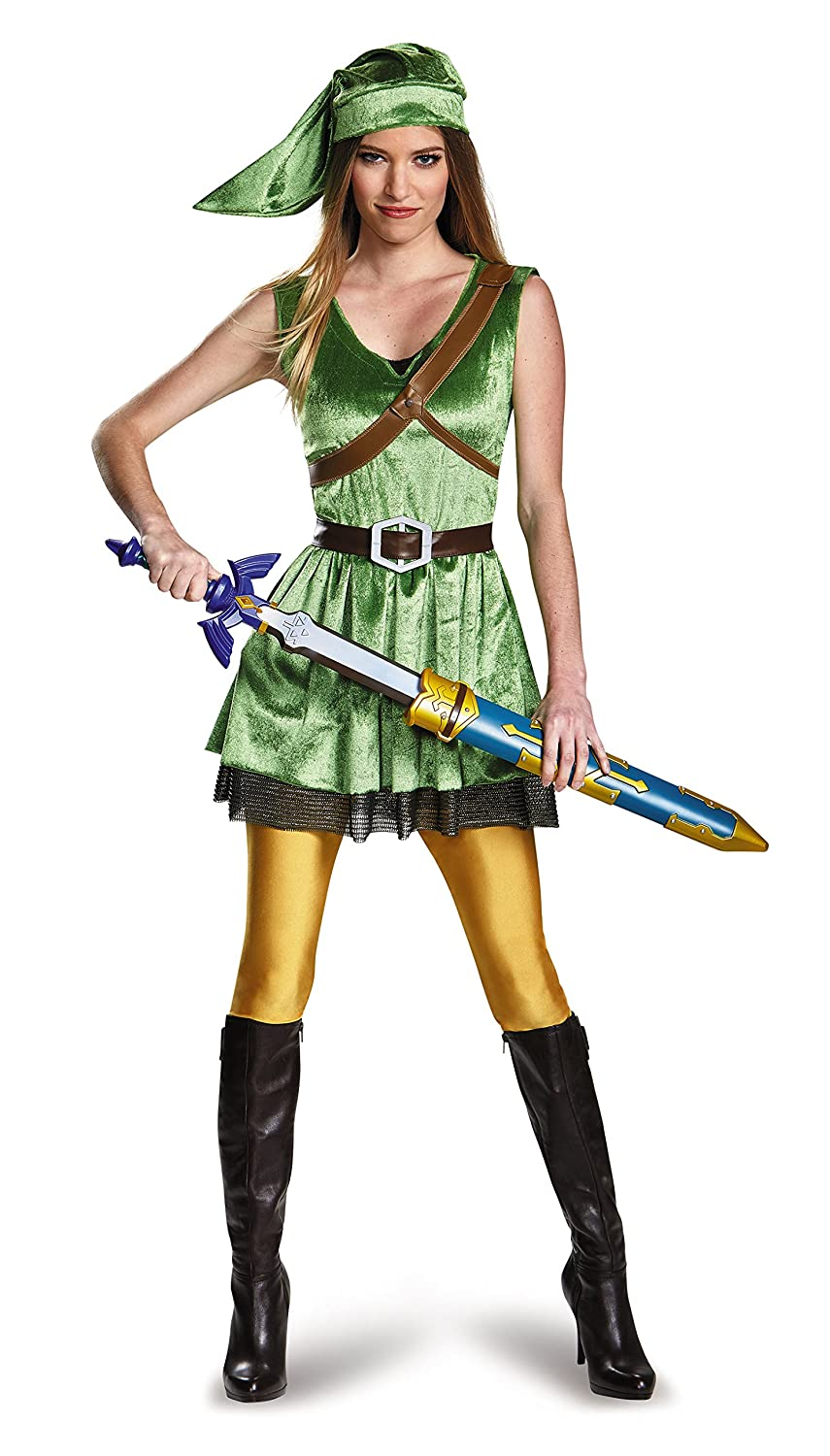 servicio honesto Small 4-6 Legend of Zelda Link Costume Costume Costume Wohombres Adult Small 4-6  encuentra tu favorito aquí
