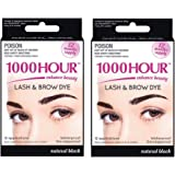 Combo Pack 1000 Hour Eyelash & Brow Dye/Tint Kit Permanent Mascara (Black & Black)
