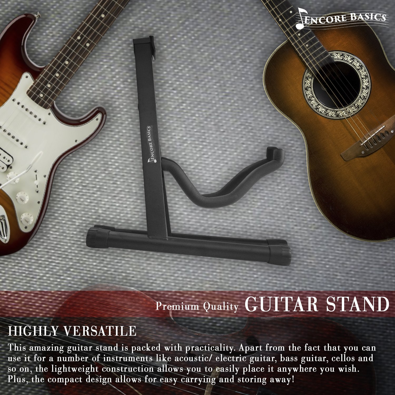 Amazon.com: Encore Basics Guitar Stand for Electric, Acoustic Guitar ...