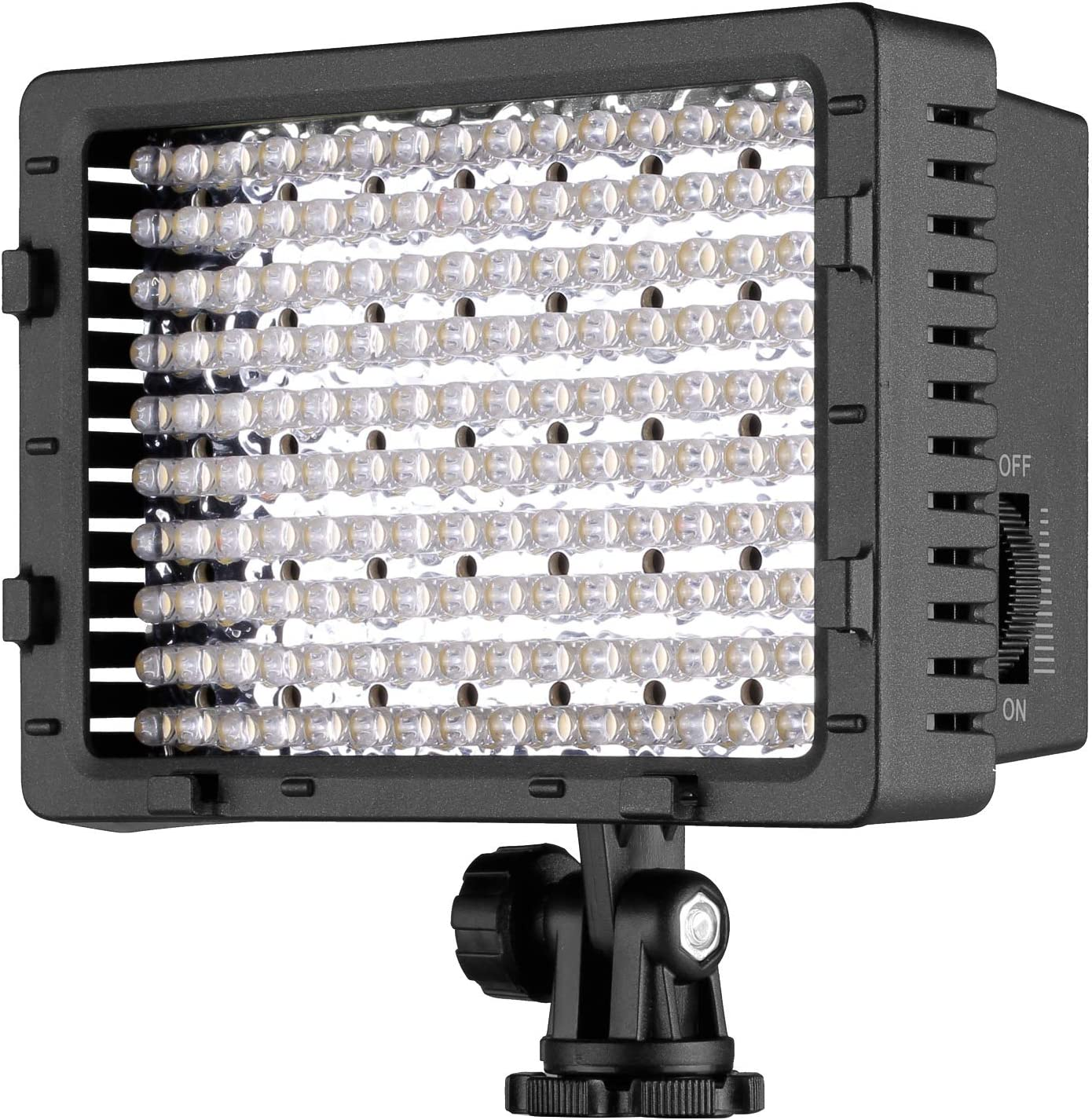 NEEWER 160 LED CN-160 Dimmable Ultra High Power Panel Digital Camera / Camcorder Video Light, LED Light for Canon, Nikon, Pentax, Panasonic, SONY, Samsung and Olympus Digital SLR Cameras : On Camera Video Lights : Camera & Photo