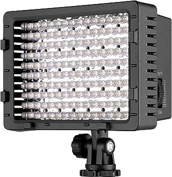 NEEWER CN-160 - Panel de luz LED regulable de 160 piezas para ...