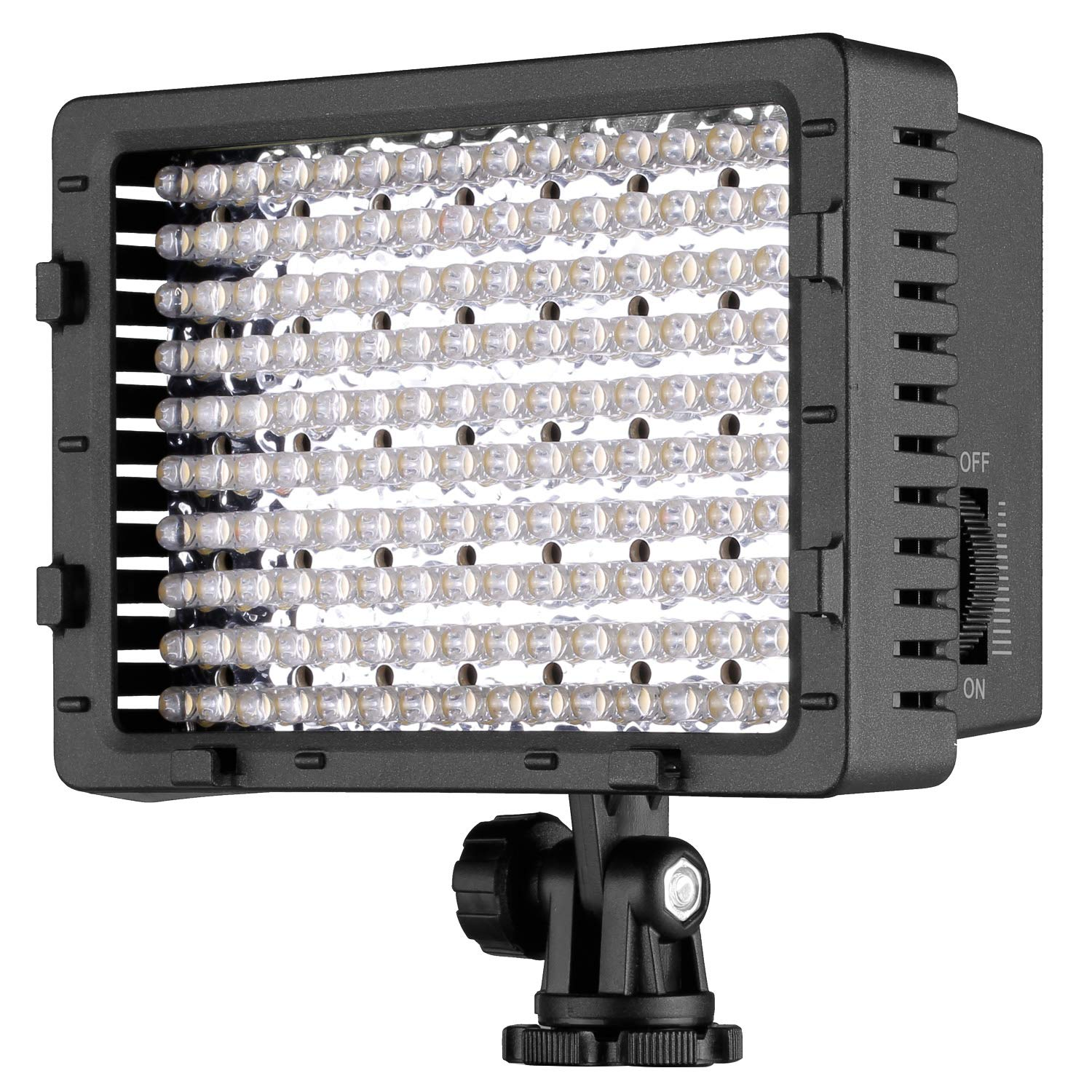 NEEWER 160 LED CN-160 Dimmable Ultra High Power Panel Digital Camera / Camcorder Video Light, LED Light for Canon, Nikon, Pentax, Panasonic,SONY, Samsung and Olympus Digital SLR Cameras by Neewer