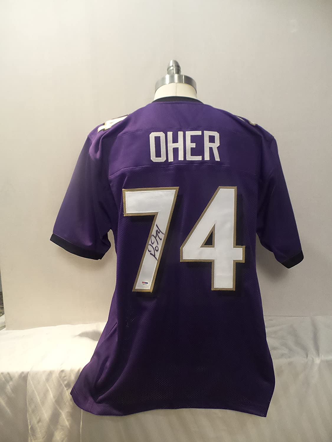 f35a3df3 Michael Oher Signed Baltimore Ravens Purple Autographed Jersey PSA ...