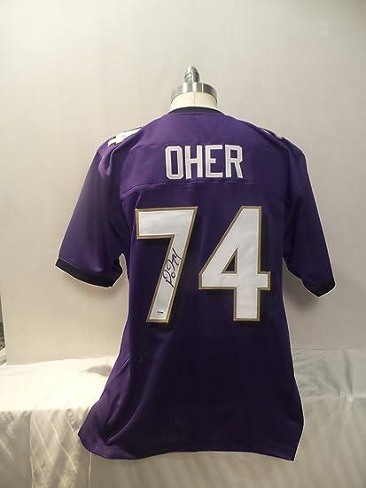 4e0defe7b Michael Oher Signed Baltimore Ravens Purple Autographed Jersey PSA ...