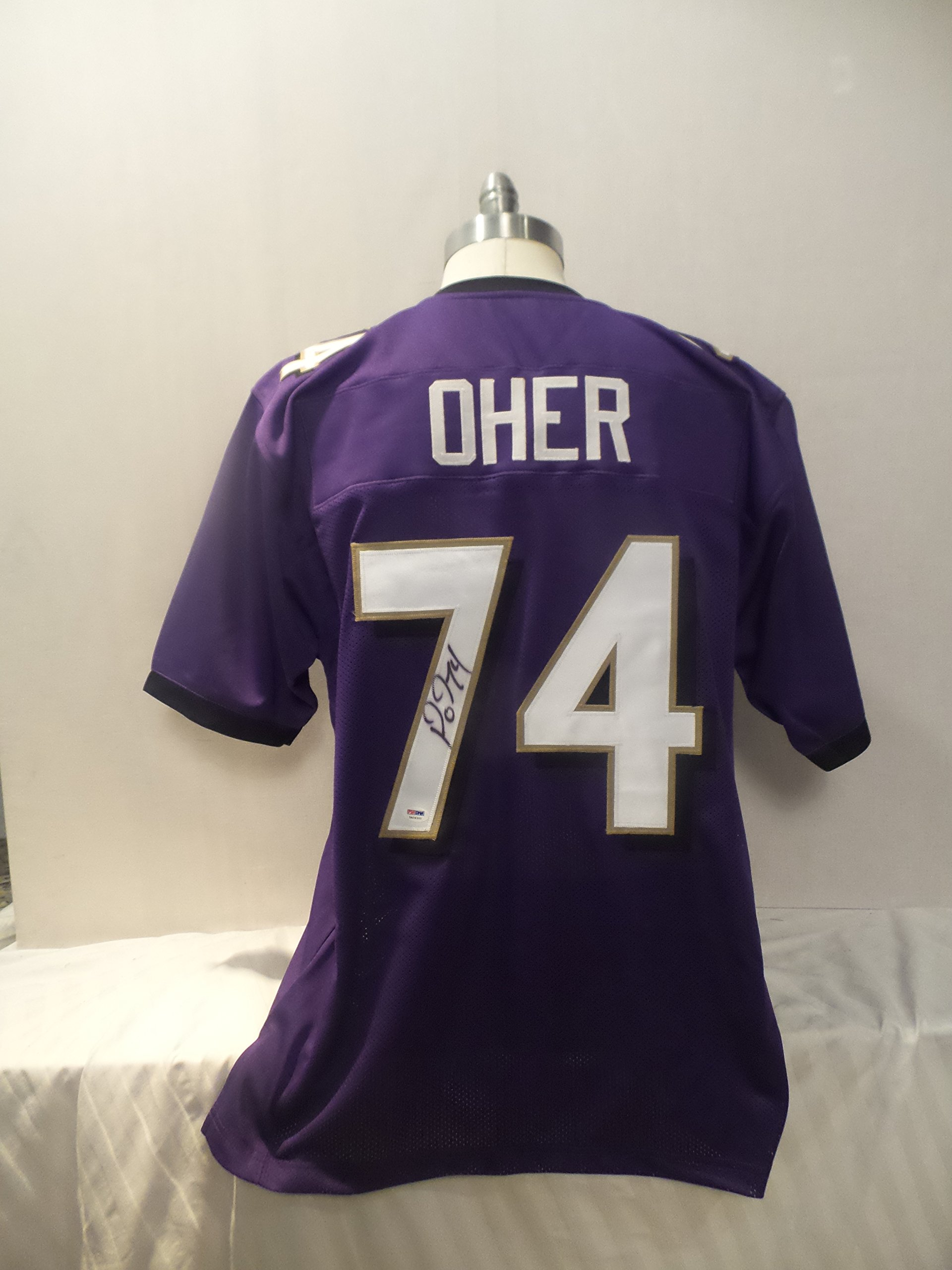 Michael Oher Signed Baltimore Ravens Purple Autographed Jersey PSA