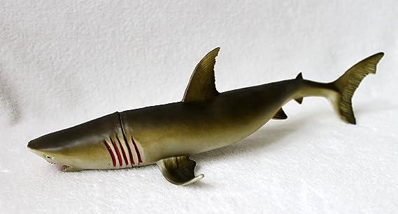 Amazon.de: Hai Spielfigur 38cm Kunststoff Haifisch Fisch (Grün)