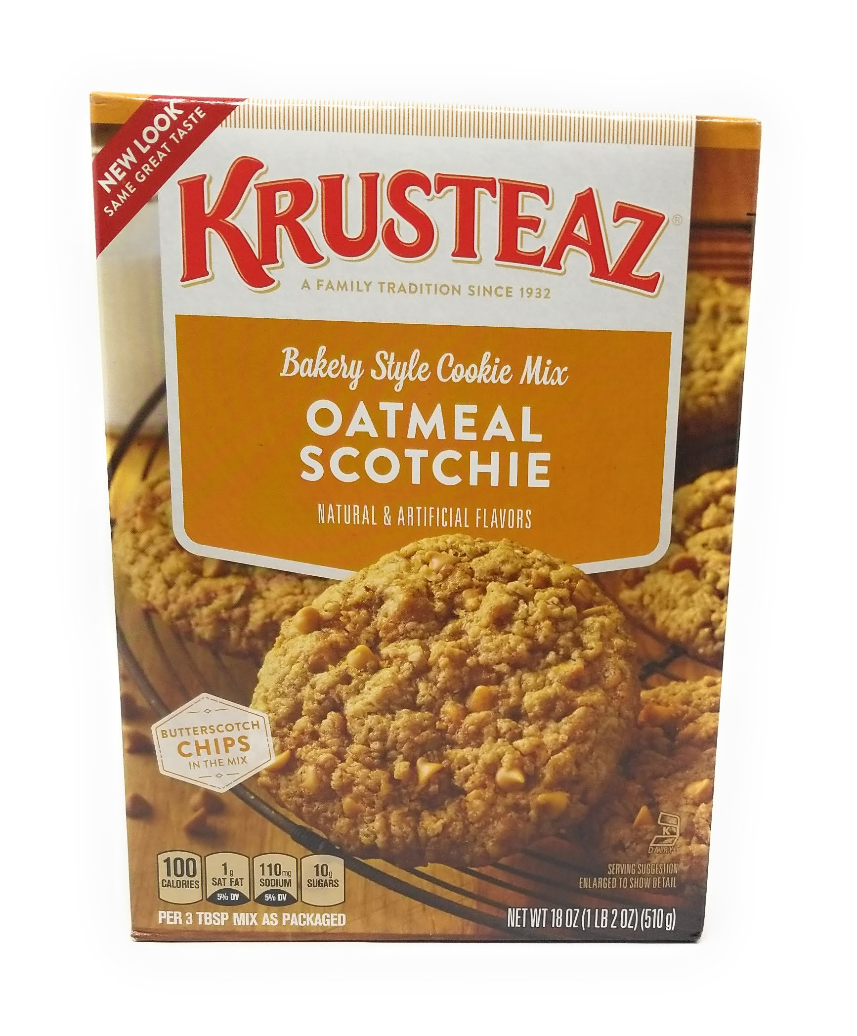 Krusteaz, Oatmeal Scotchie Cookie Mix, 18oz Box (Pack of 3)