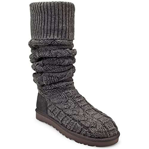 5787cecb1fe Amazon.com | UGG Womens Australia Over the Knee Twisted Cable Boot ...