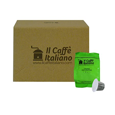 Il Caffè italiano 50 Nespresso Compatible Infusion Capsules - Purifying Infusion - 50X Infusion Capsules/Pods Chamomile Compatible Nespresso - (5 Pack Of 10 ...