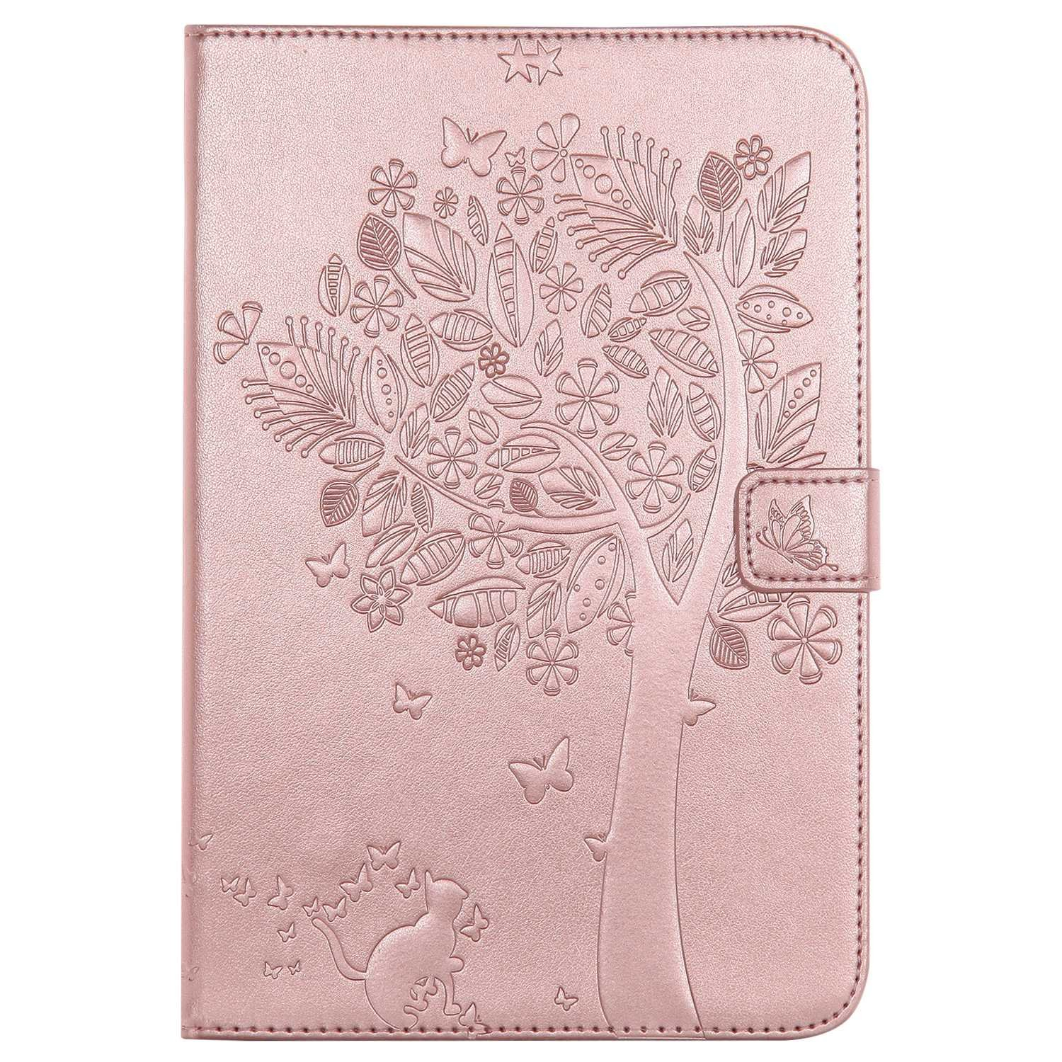 Bear Village Galaxy Tab a 8.0 Inch Case, Leather Magnetic Case, Fullbody Protective Cover with Stand Function for Samsung Galaxy Tab a 8.0 Inch, Rose Gold by Bear Village