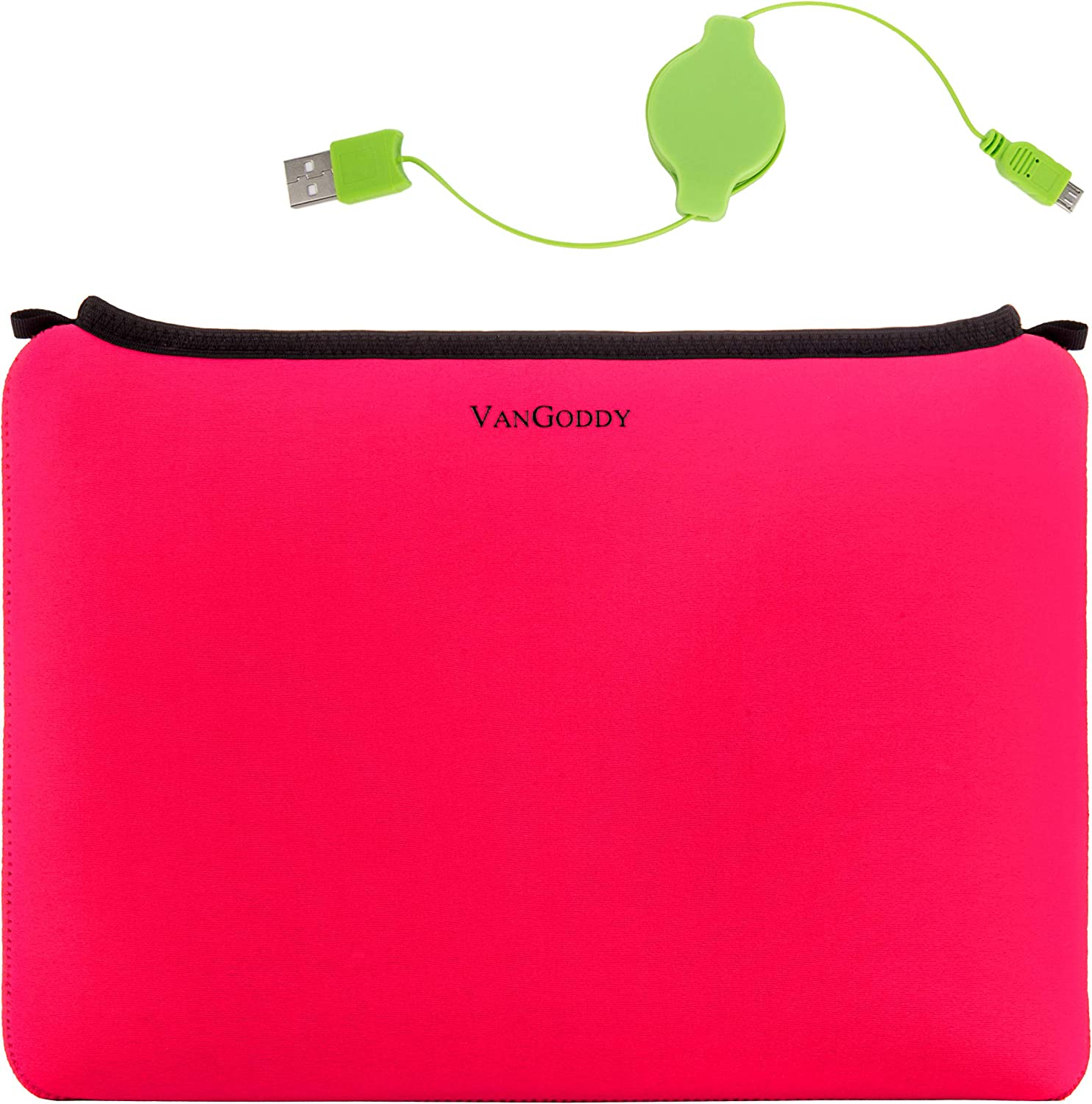 13.3 Inch Laptop Sleeve for Toshiba Portege A30 D1300ED, X30 D1352, X30 D1354, X30 D1356, X30 E1320, X30 E1322, X30 E1324, X30 E1326, X30 E1346, X30T E3142, X30T E3144 and Retractable Charge Cable
