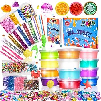 DIY Slime kit-Kinder Spielzeug,Schleim Selber Machen mit 12 Farben Clay Schlamm