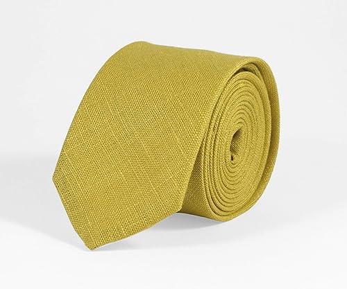 Mustard color,bow tie wedding necktie linen necktie groomsmen necktie sand bow tie for men sand necktie