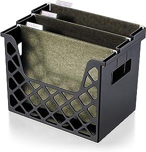 Officemate Recycled Desktop File Organizer, Black, 1 Organizer (26162), 3-1/4 X 8-5/8 X 10-3/4 in
