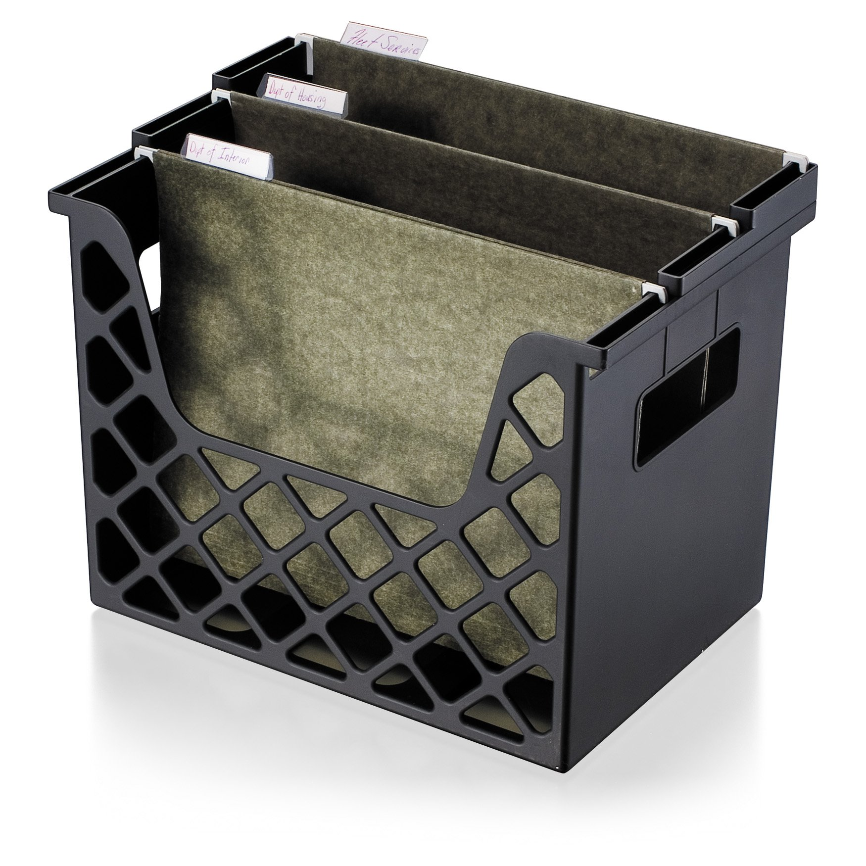 OfficemateOIC Recycled Desktop File Organzier, Black, 1 Organizer (26162)
