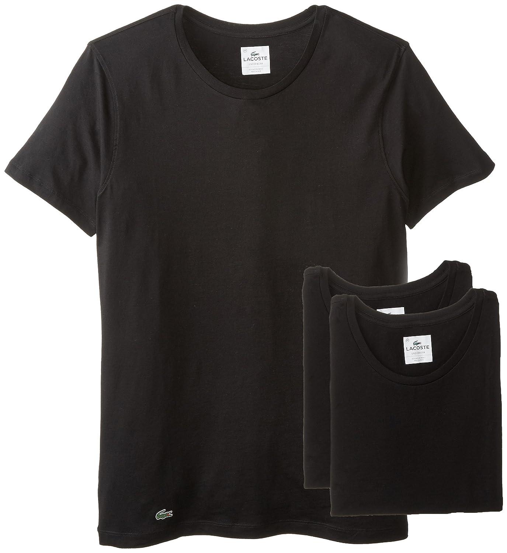 T shirt white black - Lacoste Men S Essentials Cotton Crew Neck T Shirt Pack Of 3 At Amazon Men S Clothing Store