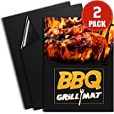 BBQ Grill Mats, Marchpower(TM) Professional Baking Grill Pats, Non-stick, Heat Resistant, Reusable 16 x 13 Inch BBQ Grilling Sheets for Meat,Veggies, Seafood.(2 Sheets)