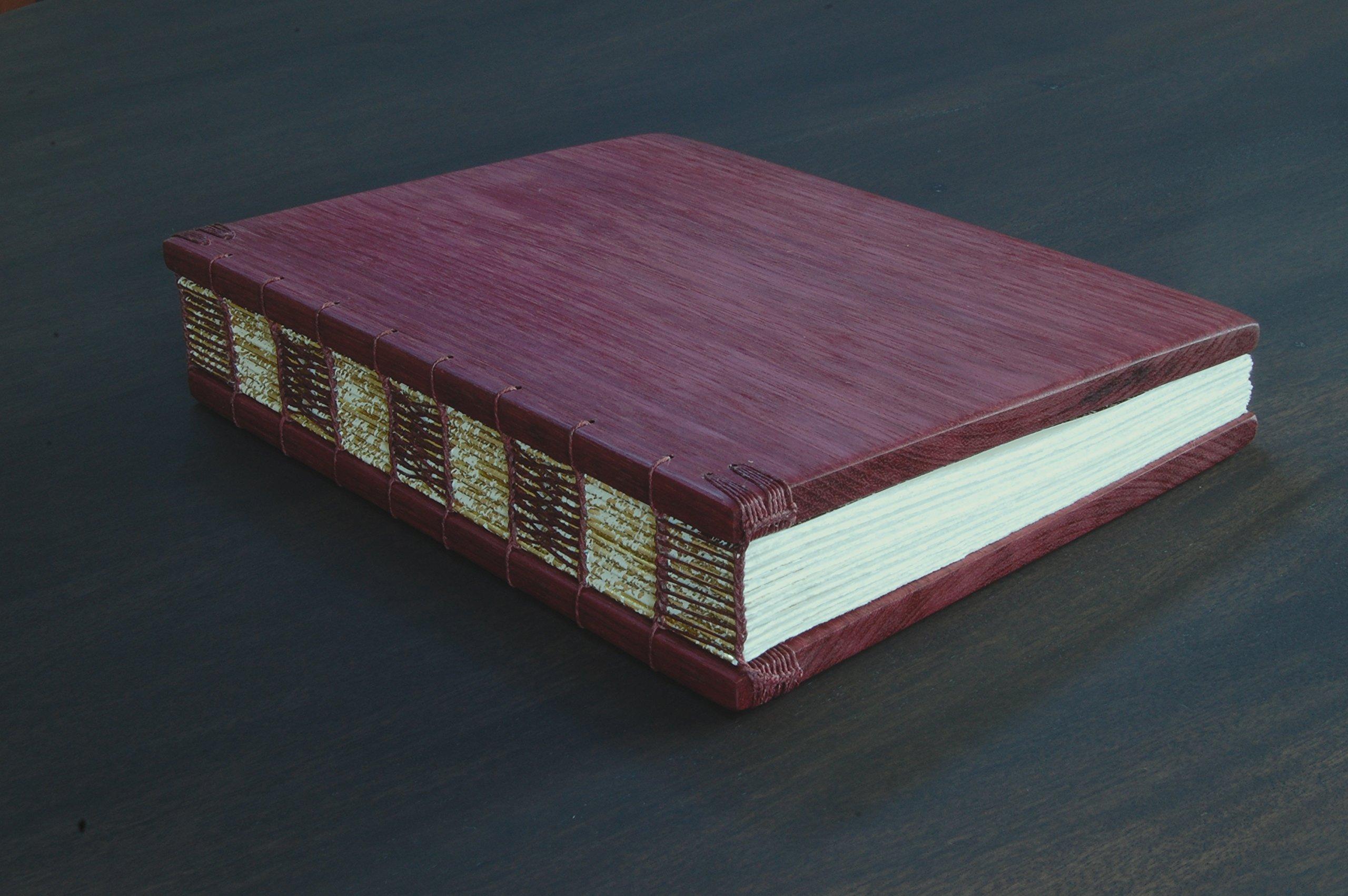 Handmade Purpleheart Wood Wedding Guest Book or Journal