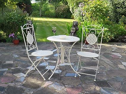 Juego de muebles de jardín de estilo francés, incluye 1 mesa ...
