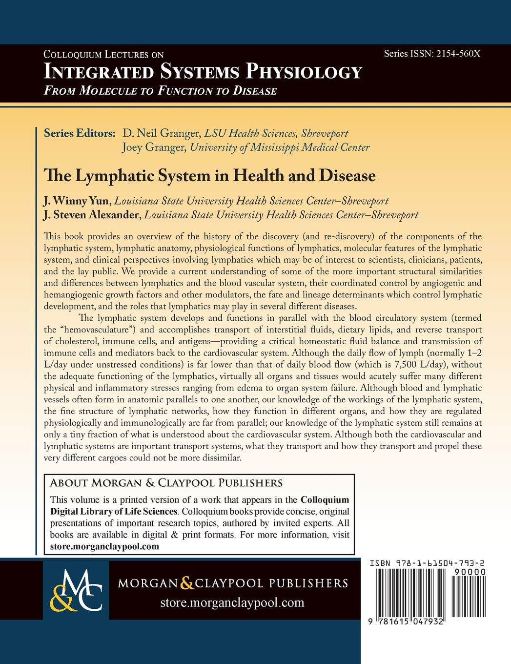 The Lymphatic System In Health And Disease Colloquium Series On
