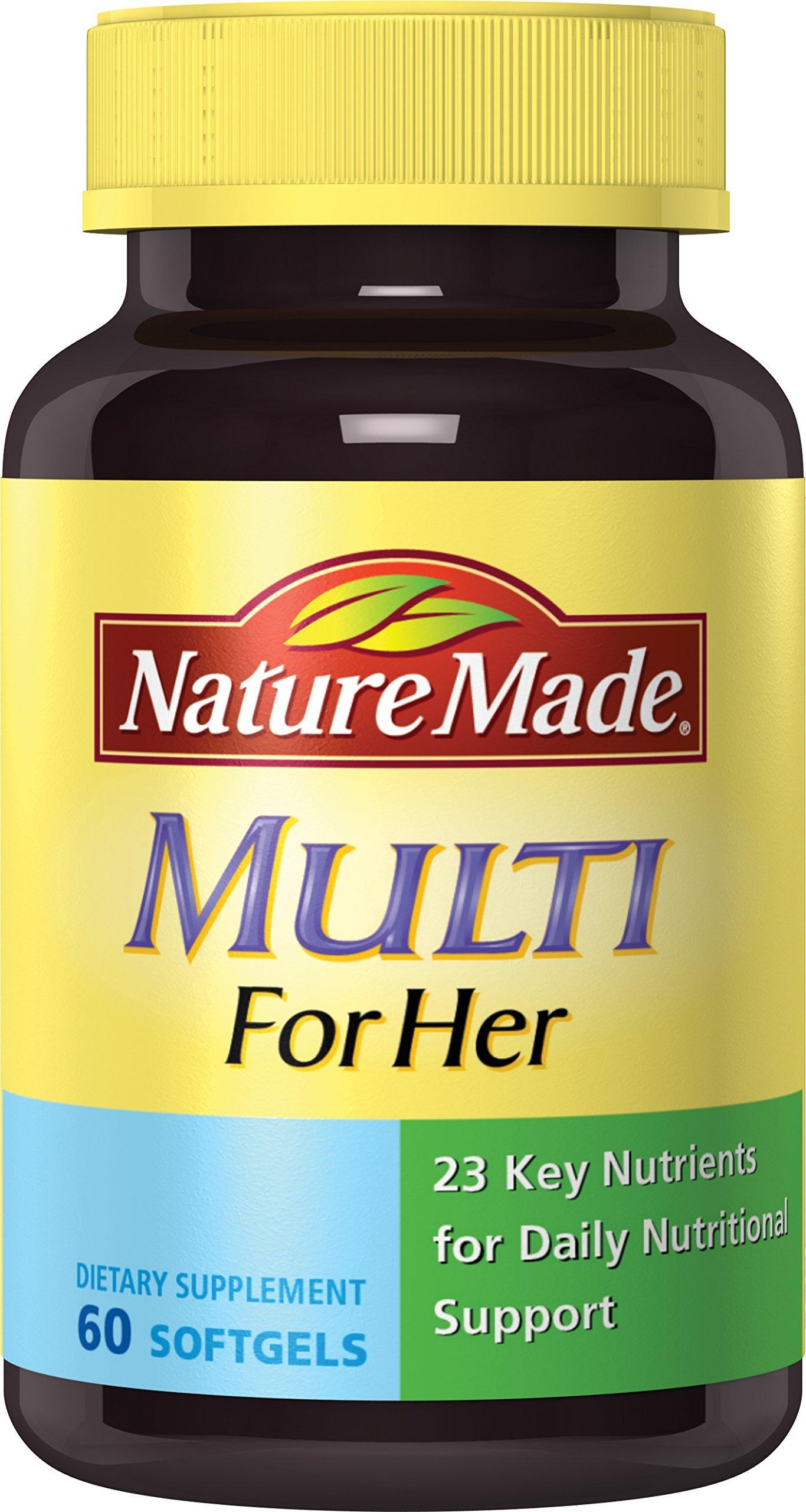 nature vitamins multi softgels minerals essential ct d3 calcium him amazon carbonate vitamin liquid supplements iu mg count iron multivitamins