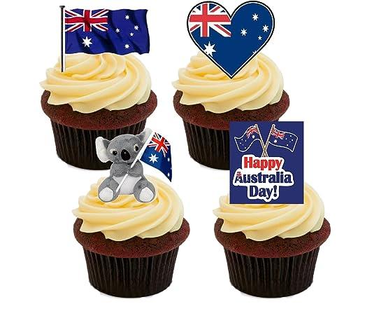 Australia día, - decoración para tarta para comestible stand-up ...