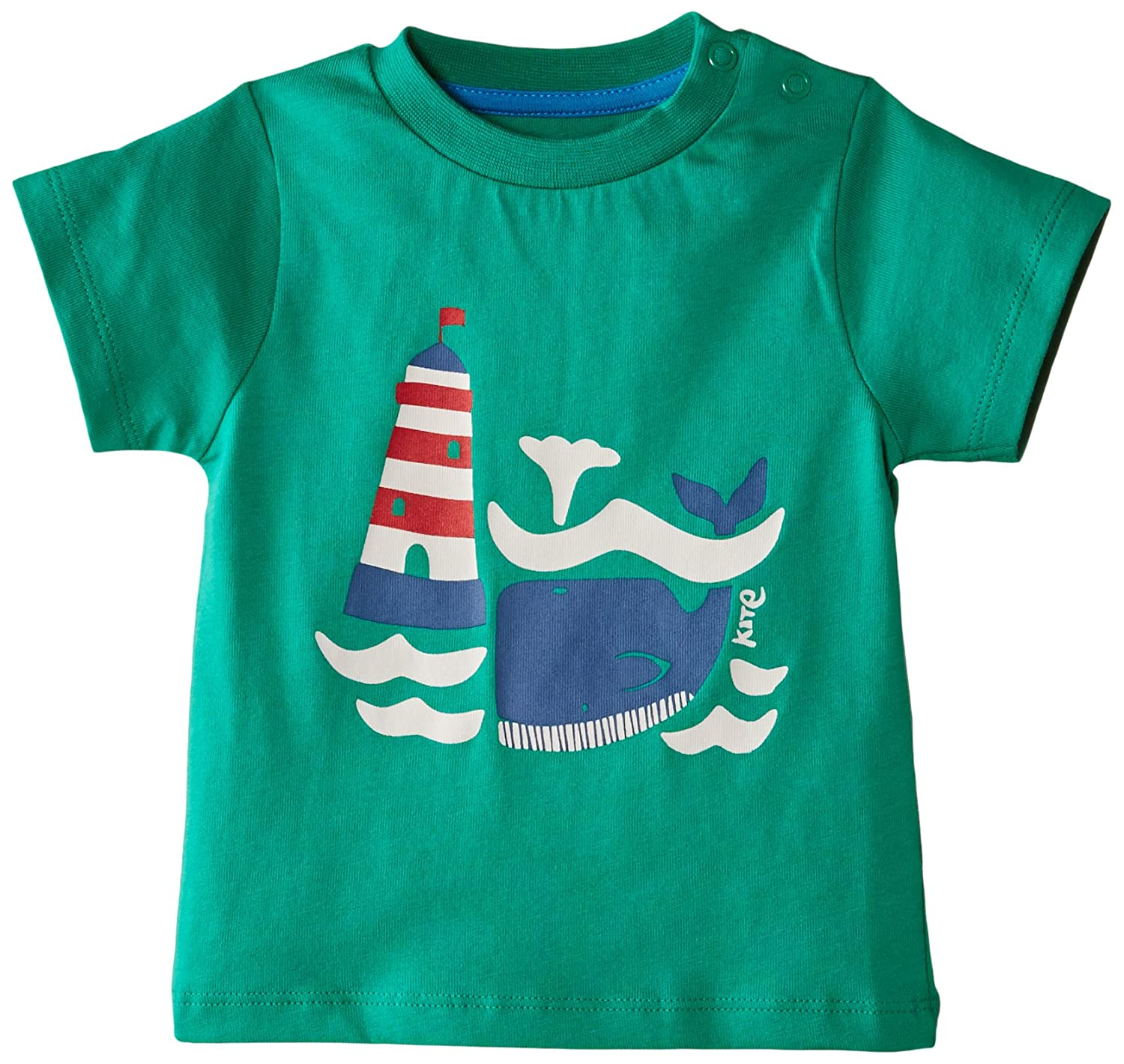 Kite Baby-Boys Lighthouse And Whale Round Collar Short Sleeve T-Shirt BB671