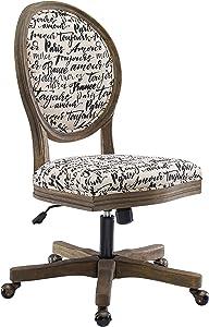 Linon Home Décor OC099PAR01U Brea Paris Office Chair, White