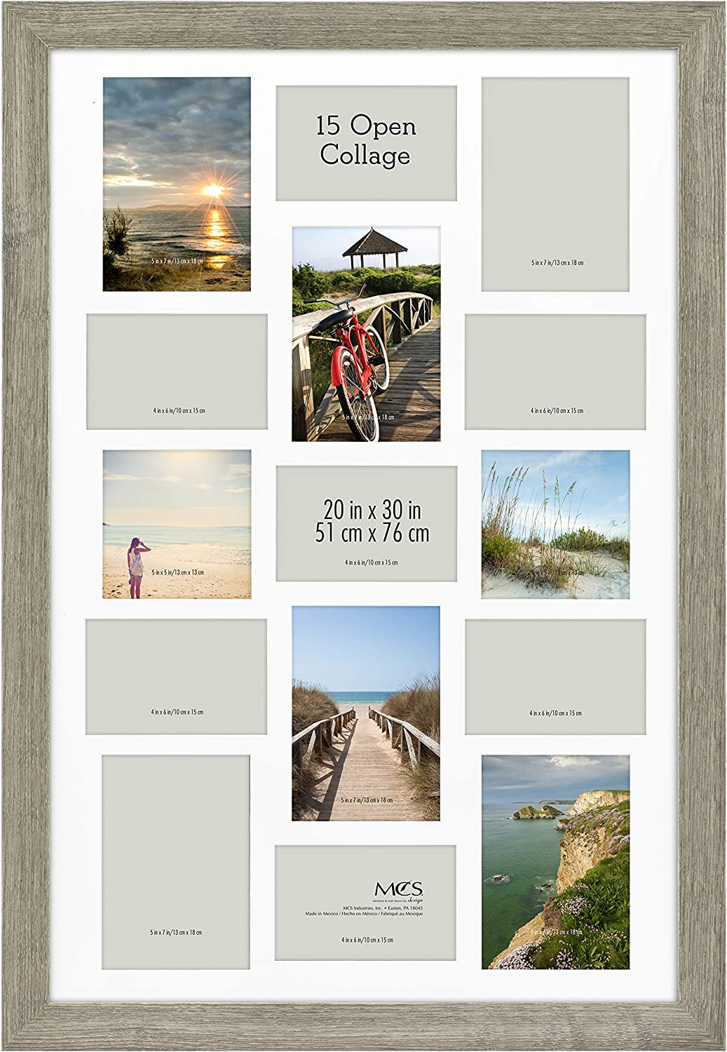 MCS Museum Collage Poster Frame, 20 x 30 in, Barnwood