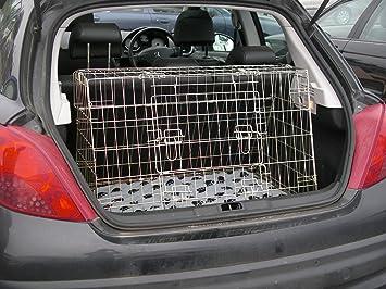 Peugeot 207 06 - inclinado coche perro Jaula para viaje caja ...