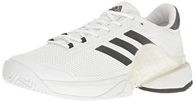 cheaper fe75d 76435 adidas Men s Barricade 2017 Tennis Shoes, Dark Grey Heather White, (7.5 M