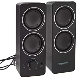 AmazonBasics AC Powered Multimedia External Speakers
