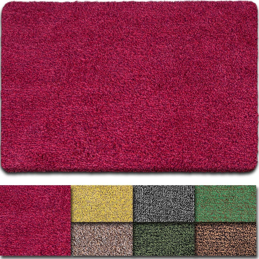 "BEAU JARDIN Floor Mats Commercial Super Absorbs Mud Doormat 36""x24"" Latex Backing Non Slip for Front Inside Dirt Trapper Mats Cotton Entrance Rug Shoes Scraper Machine Washable Rug Carpet"