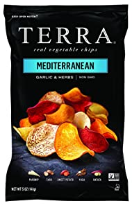 TERRA Vegetable Chips, Mediterranean Garlic & Herbs, 6.8 Ounce