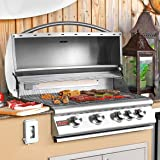 """32"""" 4-Burner Built-In Gas Grill with Rear Infrared Burner Gas Type: Propane"""