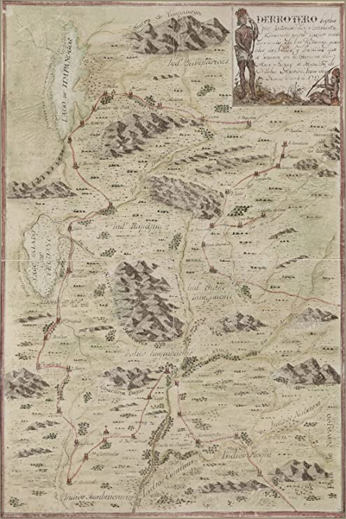 Amazon.com: 24x36 Poster; Map Colorado Utah Arizona New Mexico 1777 ...
