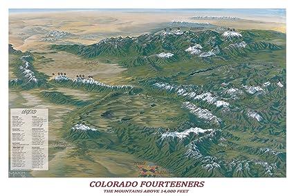 Amazon.com: Colorado Fourteeners Poster: Prints: Posters & Prints